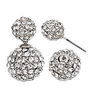 Stoned Double Stud Earrings