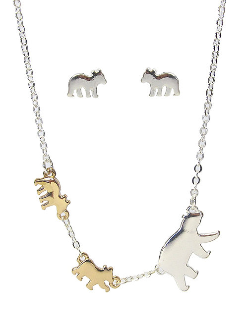 Momma Bear Necklace Set