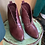 Thumbnail: Burgundy Scalloped Edge Bootie