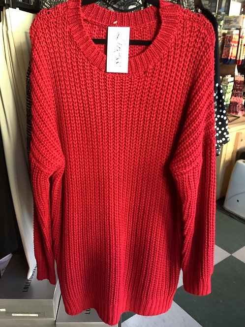 Ruby Red Holiday Sweater