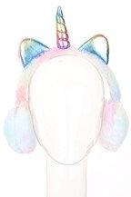 Pastel Unicorn Earmuffs- Minky