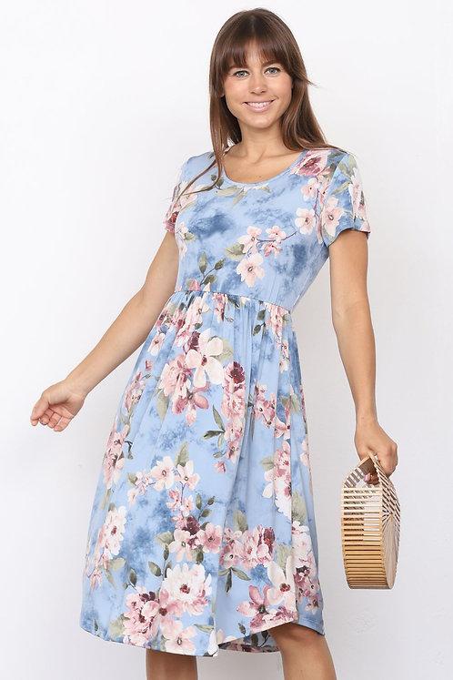 Blue Floral Babydoll