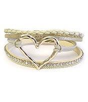 Skeleton Heart Bracelet