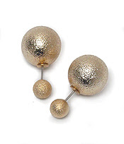 Gold Double Stud Earrings