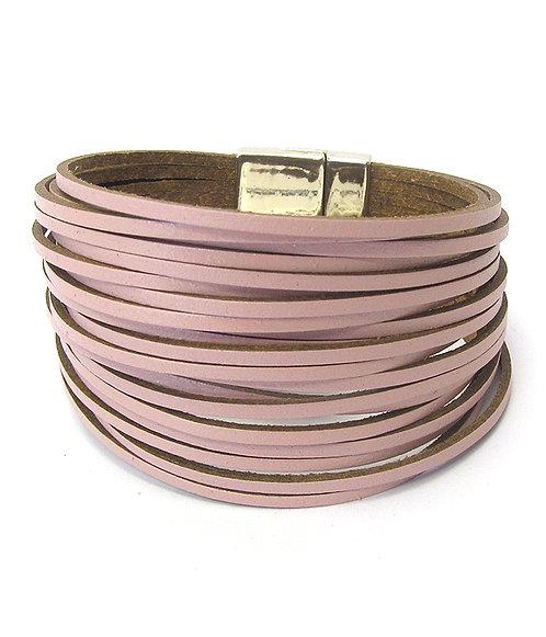 Blush Pink Leather Bracelet