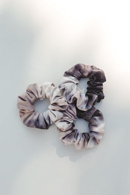 Grey Tie Dye Scrunchie