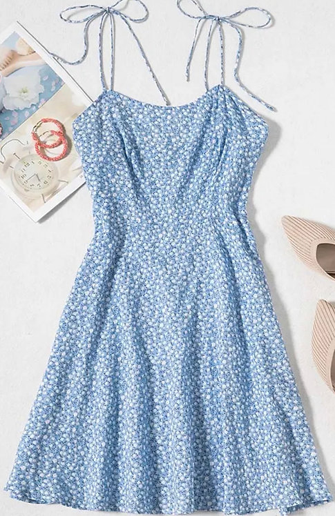 Blue Mini Floral Sundress