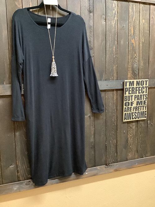 Basic Black Dolman Dress