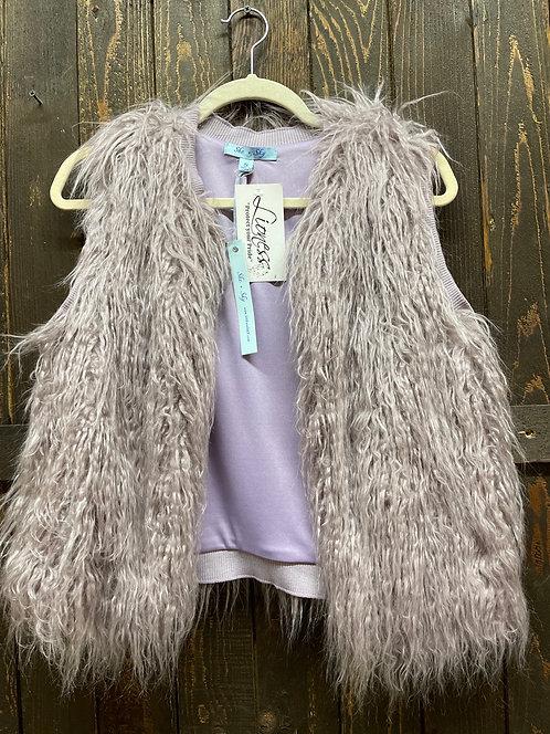 Pale Purple Shag Vest