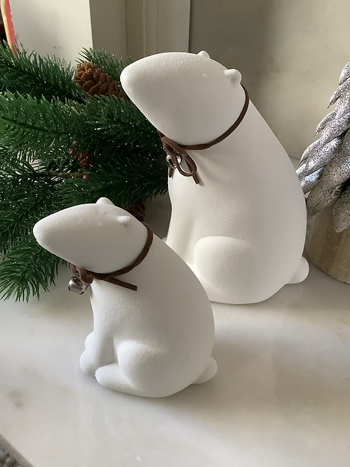 Polar Bear with Bell Necklace (small)