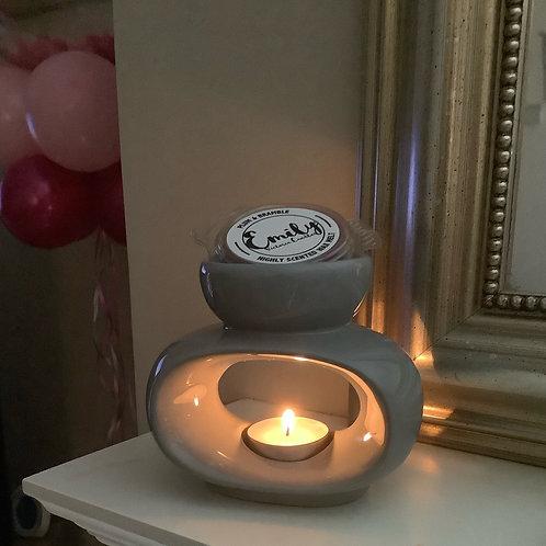 Grey Oval Wax Melt Warmer