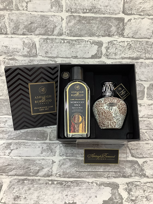 Apricot Shimmer Ashleigh and Burwood Fragrance Lamp Gift Set