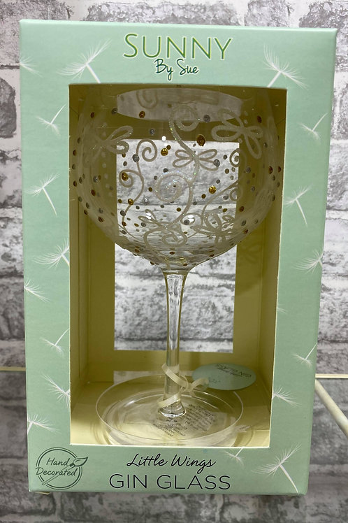Sunny By Sue Little Wings Gin Glass