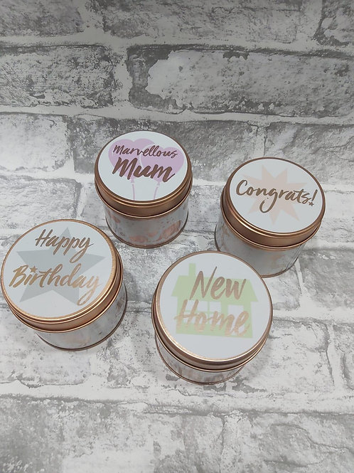 Occasion Candle in a Tin
