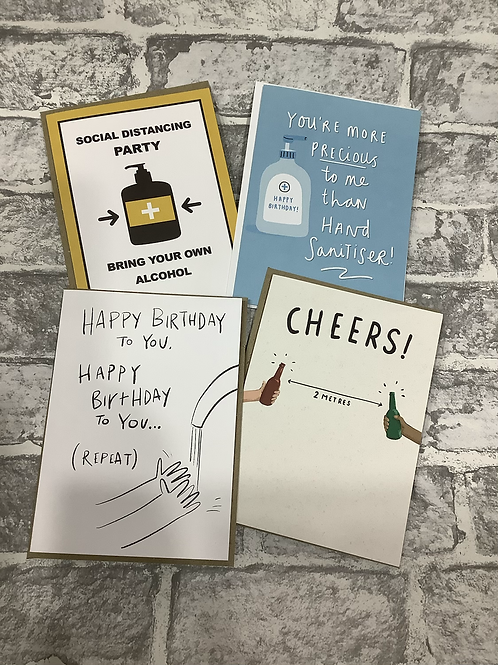Social Distance Greetings Cards