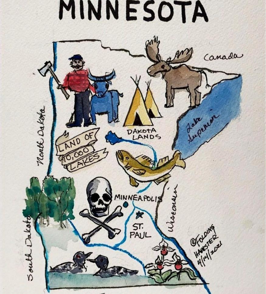 Minnesota, doncha know. You betcha. 💔 Daunte Wright. George Floyd.
