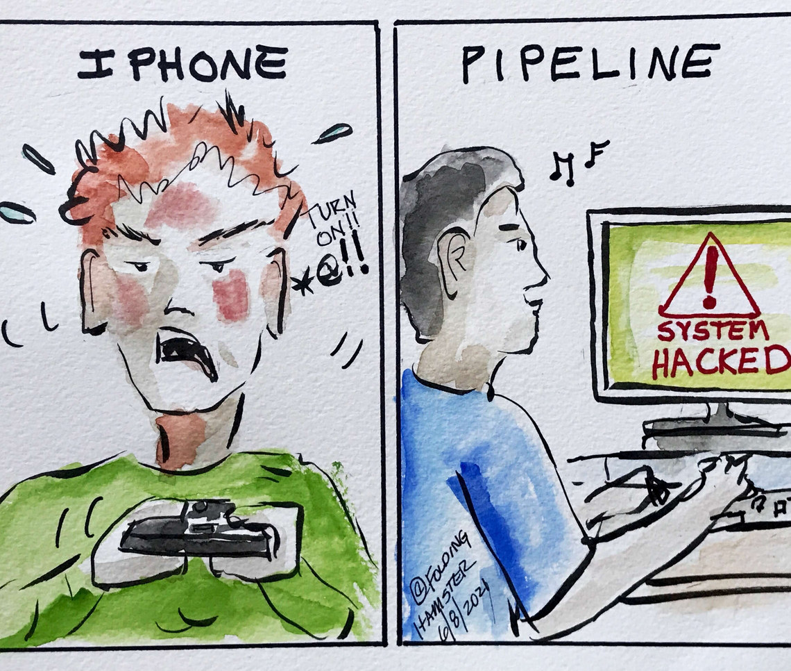 It's more difficult to get into your IPhone than it was for hackers to ransom Colonial Pipeline. #GreenNewDeal #IPhone #ColonialPipeline
