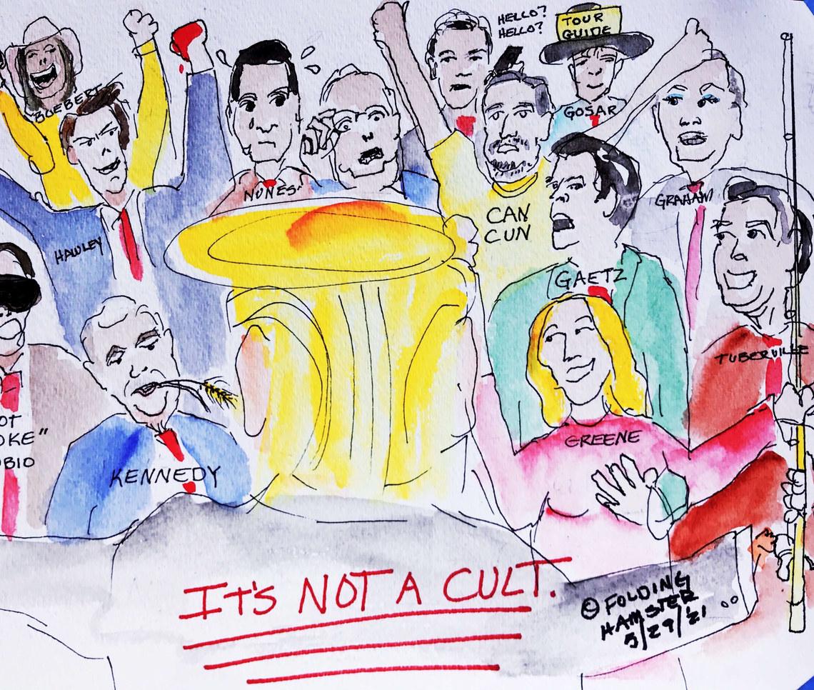 Trump cult.