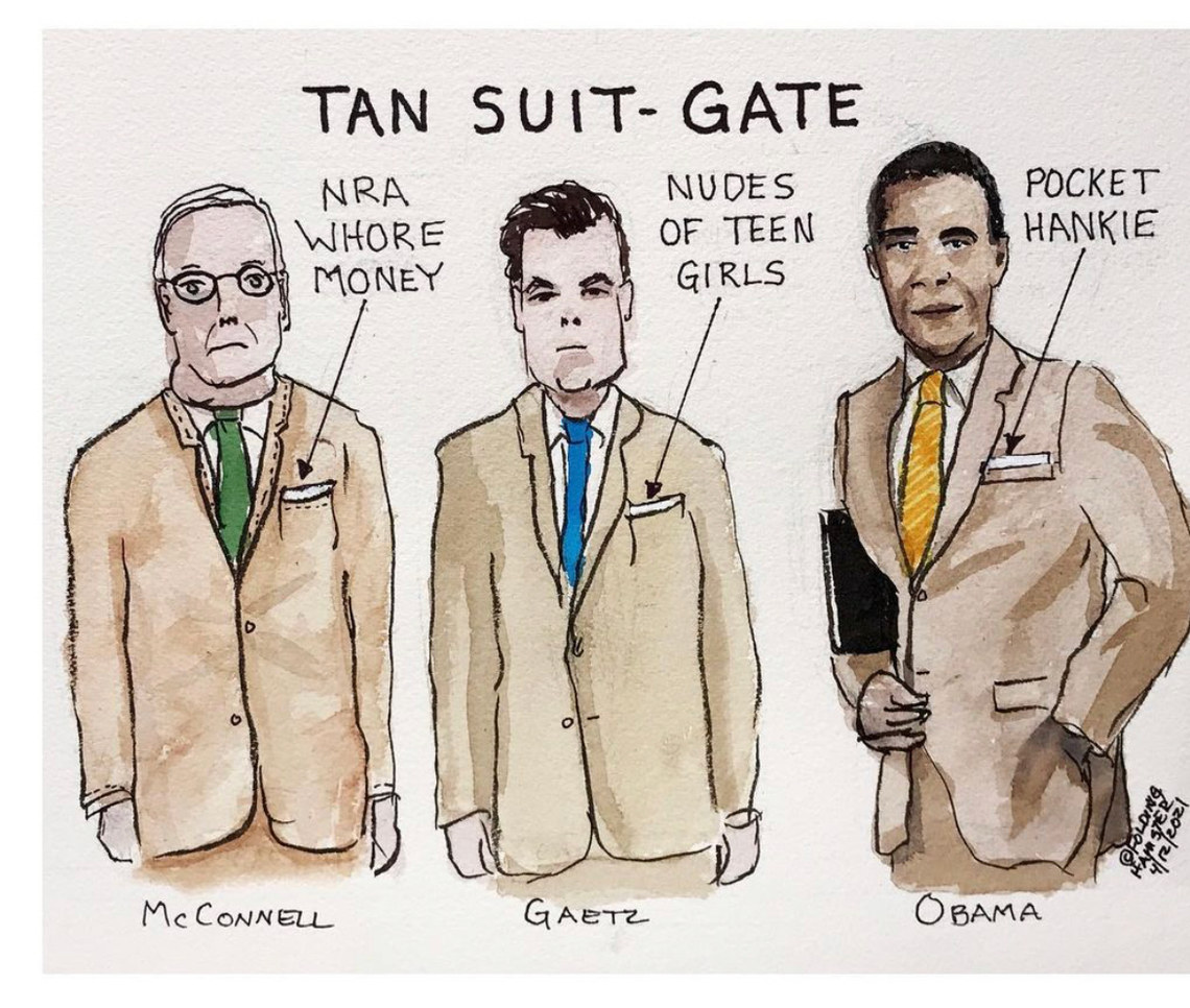 Remember when a tan suite was all the GQP could talk about?