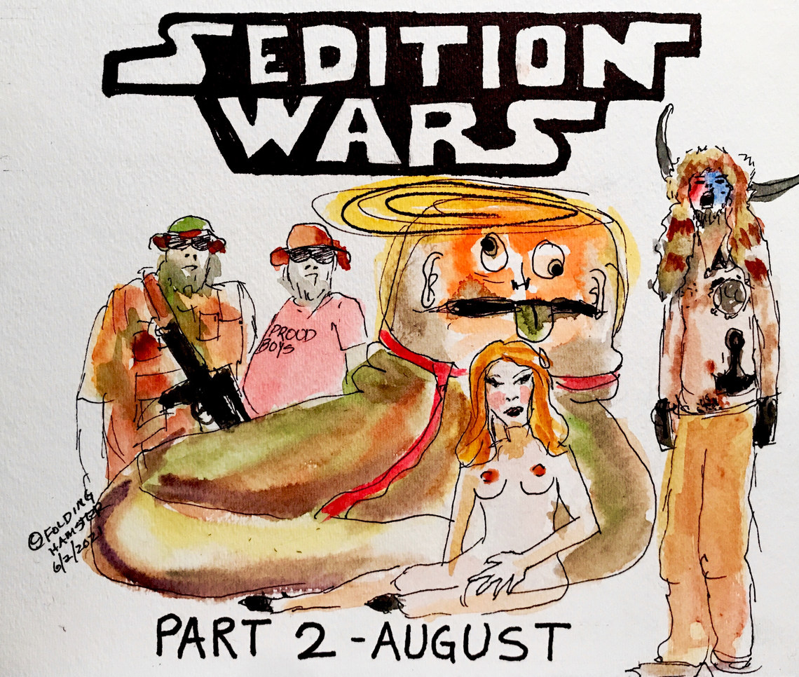 Sedition Wars: The Return of the Cheeto, coming in August. Don't think they won't try it again. #Starwars