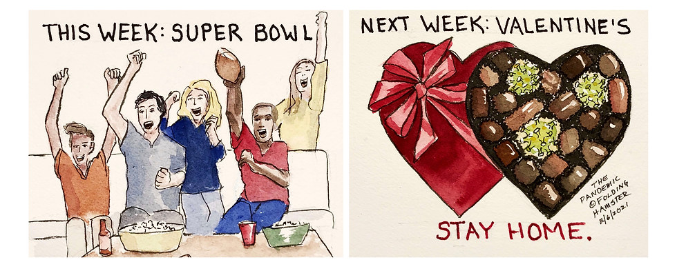 Super Bowl Super Spreader. Don't Do it. #StayHome