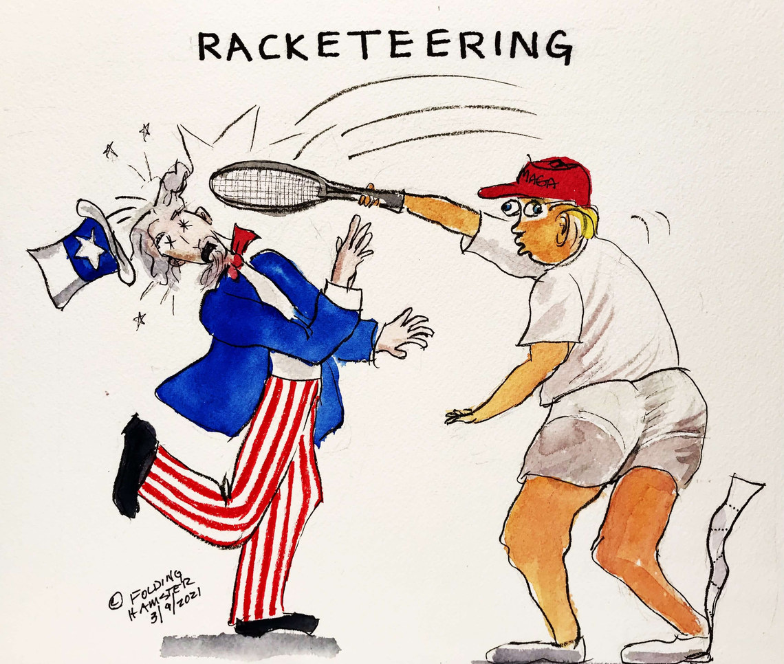 Trump is being investigated in Georgia for racketeering. #20YearsMax #TightyWhities