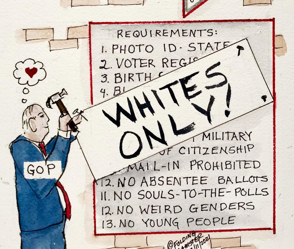 Voter suppression running wild. We need Voting Rights Legislation.