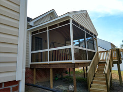 Deck addition with screened porch