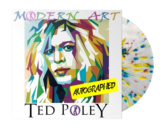 "Ted Poley - Modern Art Limited Edition (AUTOGRAPHED) ""Splatter"" Vinyl"