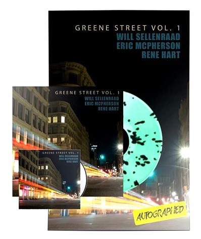 """WILL SELLENRAAD """"GREENE ST VOL. 1"""" MINT GREEN/BLACK SPLATTER LP/CD/POSTER BUNDLE"""