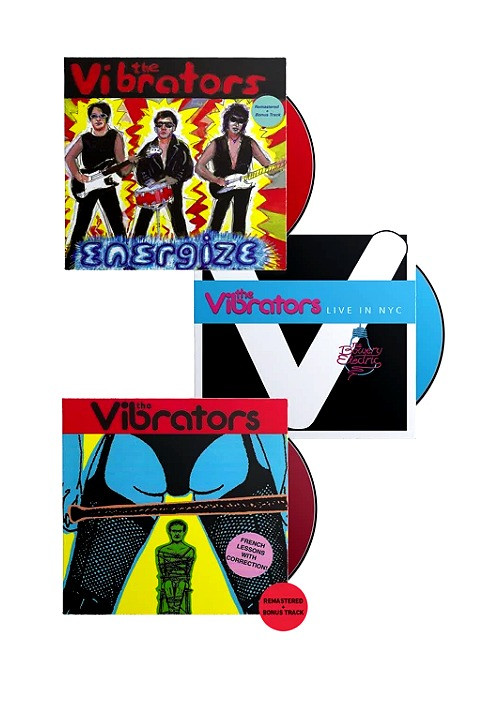 The Vibrators - French Lessons, Energize, & Live In NYC CD Bundle
