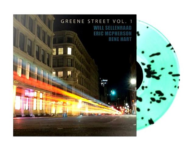 """WILL SELLENRAAD """"GREENE ST VOL. 1"""" MINT GREEN/BLACK SPLATTER LP"""