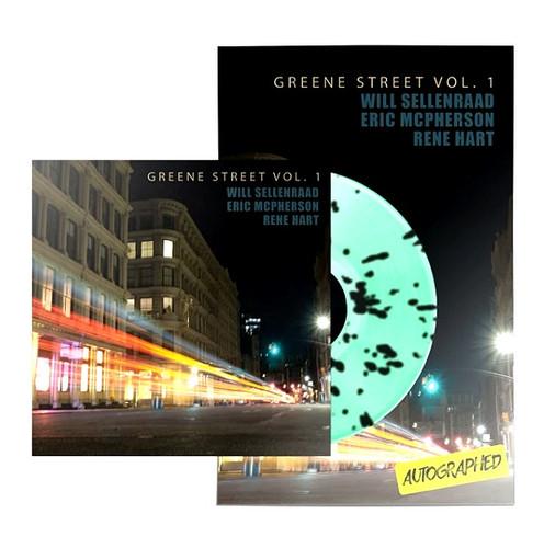 """WILL SELLENRAAD """"GREENE ST VOL. 1"""" MINT GREEN/BLACK SPLATTER LP POSTER BUNDLE"""