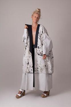 Lasercut Oversized Coat