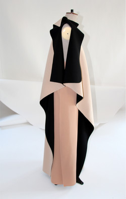 Circle cut-out dress