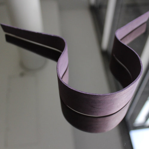Pure purple veneer necklace