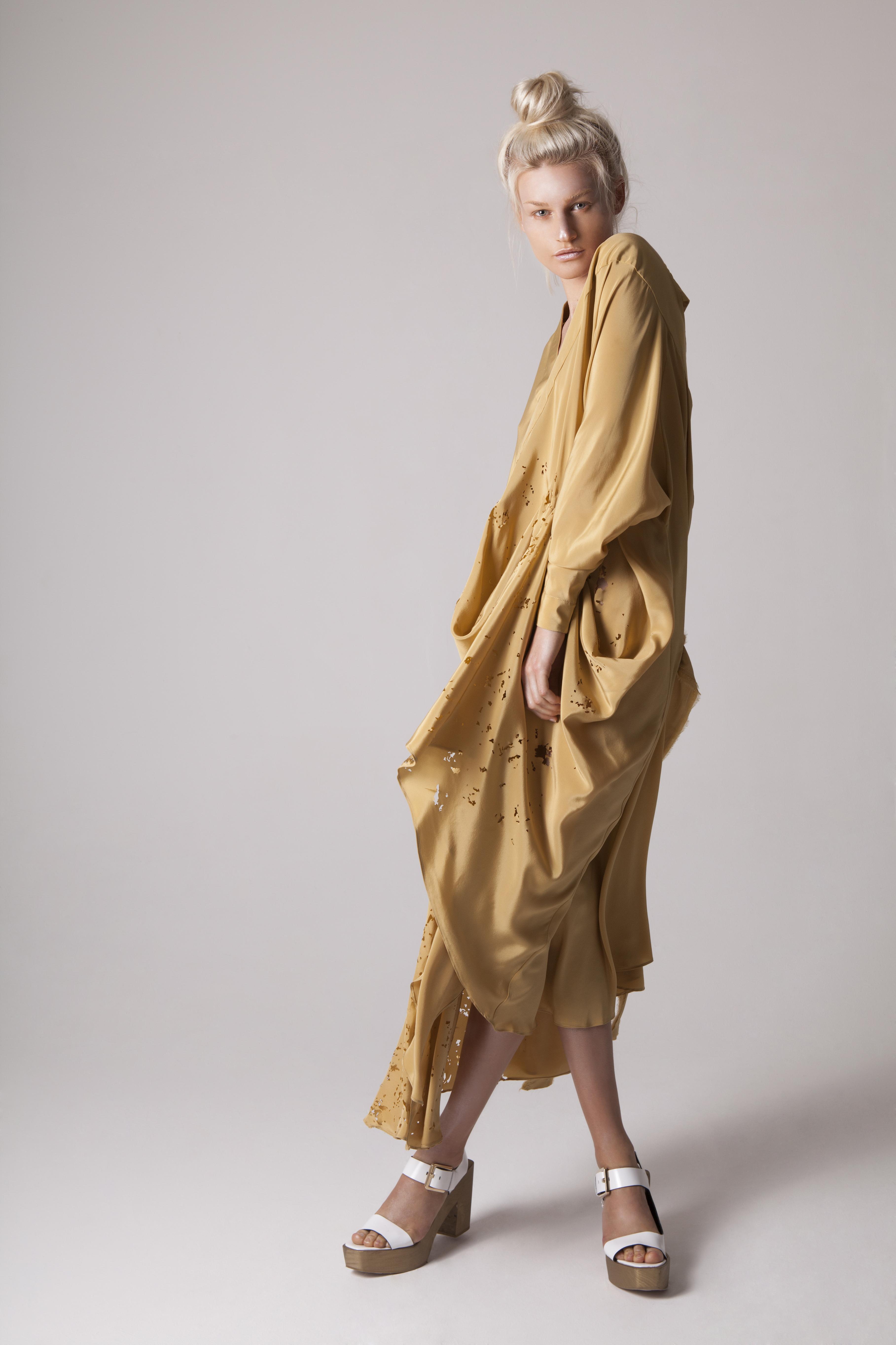 Drape Lasercut Dress