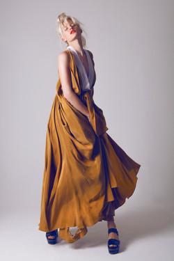 Silk Lasercut Dress