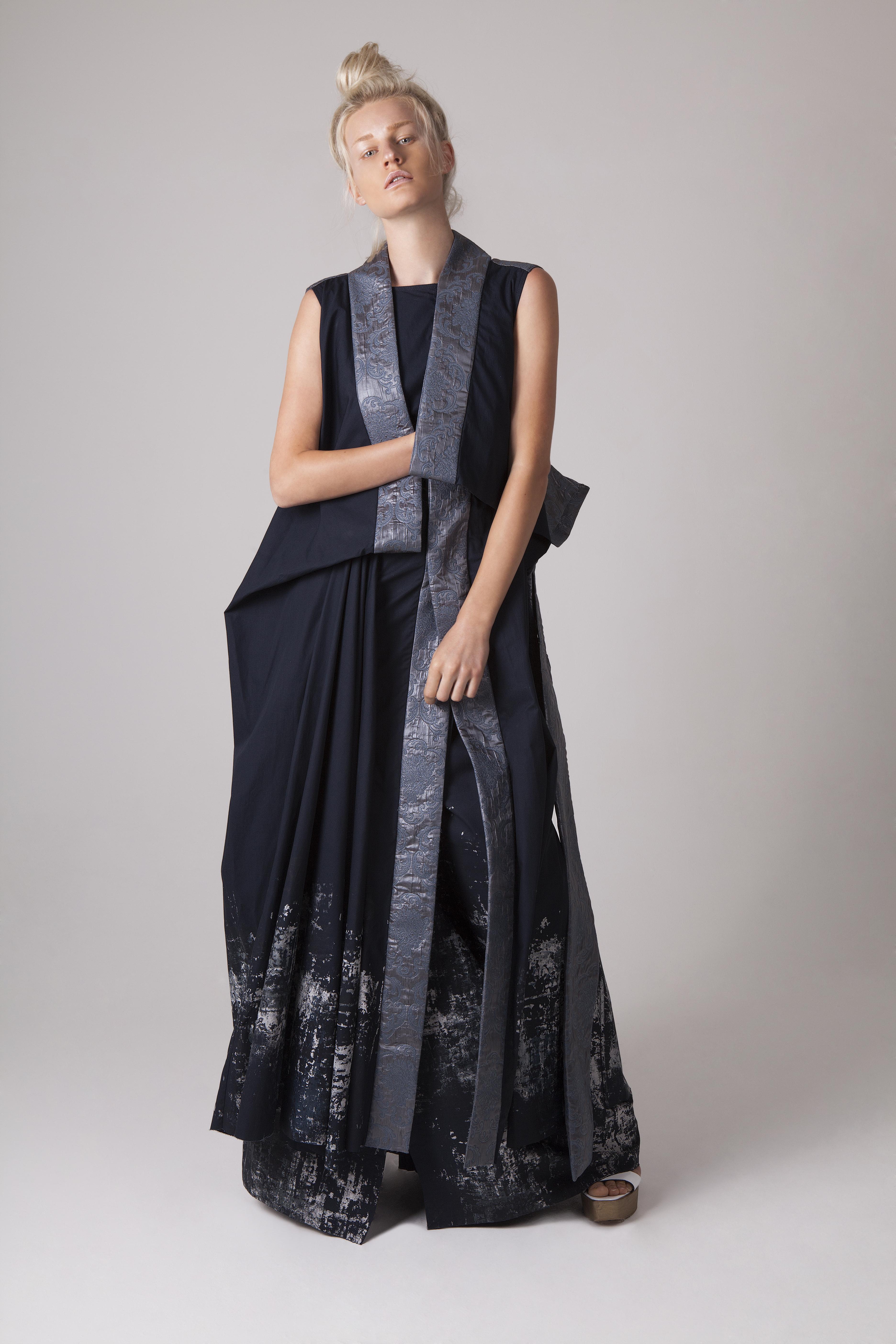 Kimono Screen Print Dress