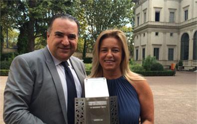 Premio Nazionale all'Innovazione 2014, with Katia Sagrafena