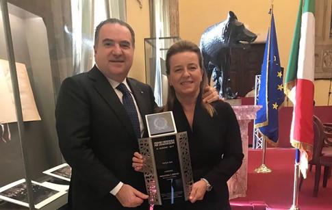 Premio Nazionale per l'Innovazione at the Camera dei Deputati, with Katia Sagrafena