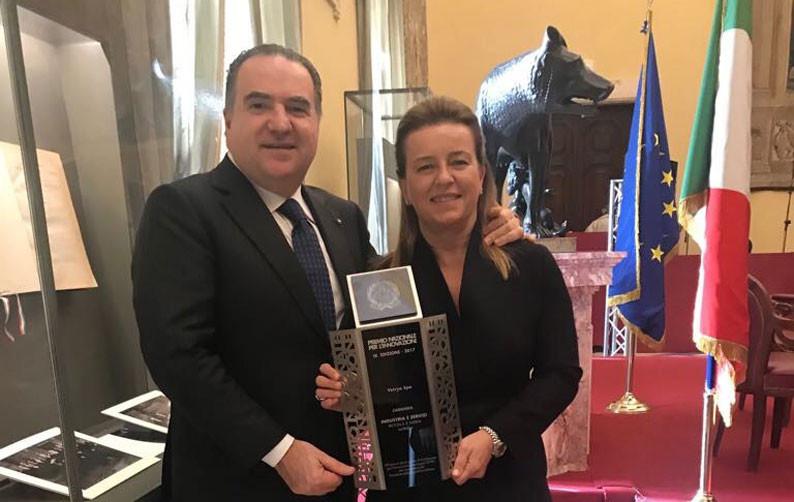Premio Nazionale per l'Innovazione alla Camera dei Deputati, insieme a Katia Sagrafena