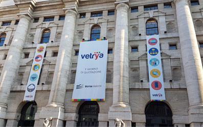 1° giorno di Quotazione in Borsa Italiana, Piazza degli Affari, Milano, Italia