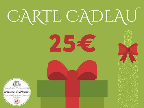 E-CARTE CADEAU de 25 €