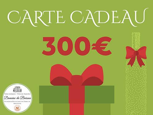 E-CARTE CADEAU de 300 €