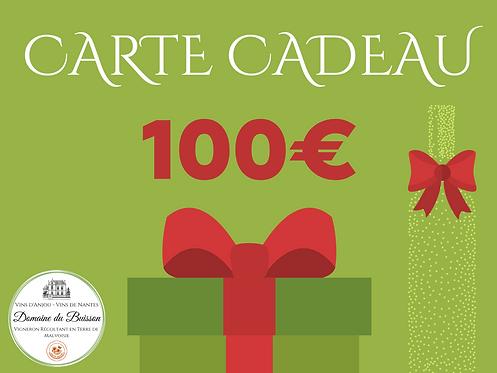 E-CARTE CADEAU de 100 €