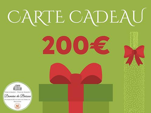 E-CARTE CADEAU de 200 €