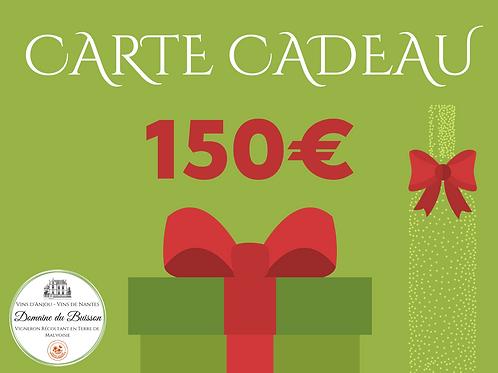 E-CARTE CADEAU de 150 €