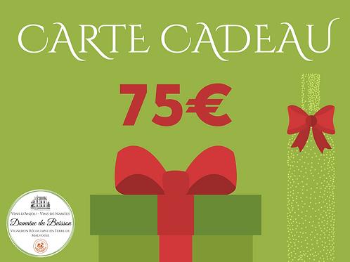 E-CARTE CADEAU de 75 €