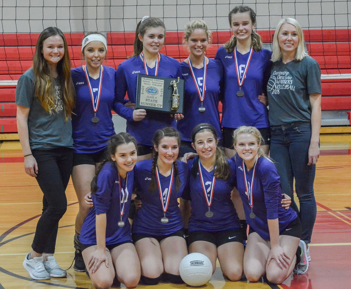 Varsity Volleyball State Runner Up Team